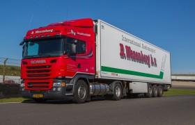 Vier nieuwe Scania LNG trucks voor Wezenberg Transport
