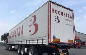 4 schuifzeilopleggers met kooiaapaansluiting voor Boonstra Transport