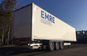 3 nieuwe Wezenberg Krone kasten trailers voor Emre Logistics