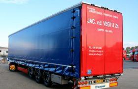 Wezenberg Trailers levert multifunctionele Krone Mega Liner af aan Jac vd Vegt & Zn. B.V. uit IJsselmuiden