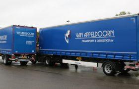 Wezenberg Trailers levert 2x 1-assige gestuurde City opleggers aan Van Appeldoorn Transport & Logistics