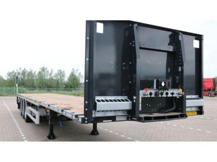 HRD 3-as Platte trailer