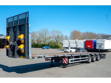 HRD SPTM3N   3 as Platte mega trailer verlengbaar   3 Achse  Plateau Mega Auflieger Teleskopierbar   3 axle Flatbed mega trailer ext
