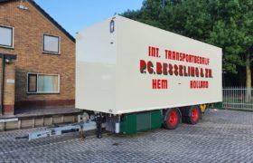 Wezenberg Trailers levert WEB middenasaanhangwagen af aan P.C. Besseling & Zn uit Hem