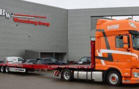 Wezenberg Trailers levert uitschuifbare vlakke mega HRD oplegger aan Rotrans uit Stroe