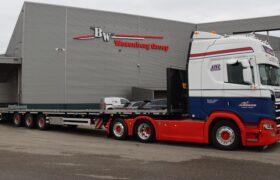 Wezenberg Trailers levert uitschuifbare vlakke mega HRD oplegger aan PB Transport BV uit Heenvliet